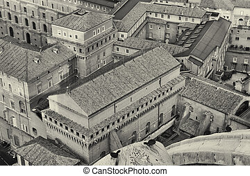 cima, basílica, peter, s., vista