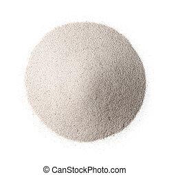 cima, bianco, vista, sabbia, silice