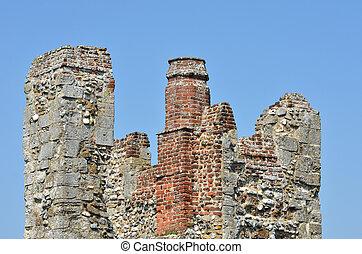 cima, castello, torre