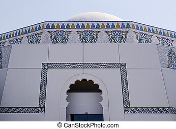 cima, de, árabe, architecture.