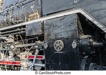 cima, de, antigas, trem, .