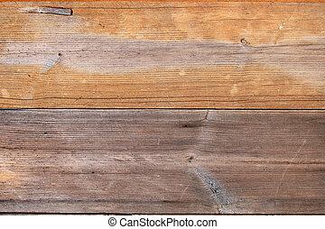 cima, de, grungy, madeira