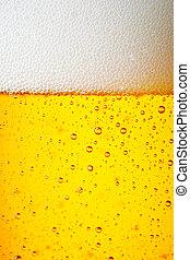 cima, gelo, cerveja, fim, gelado, gotas, quartilho