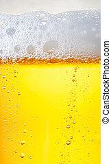 cima, gotas, de, um, gelo, gelado, quartilho cerveja