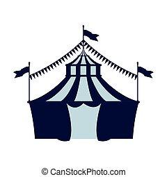 cima grande, circo, bandera