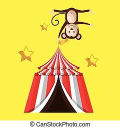 cima grande, circo, icono