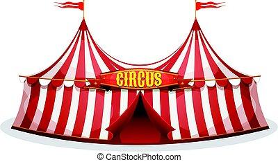 cima grande, tienda de circo