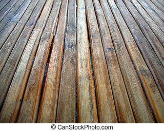 cima mesa, madera