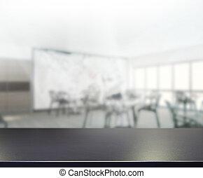 cima mesa, plano de fondo, oficina, mancha