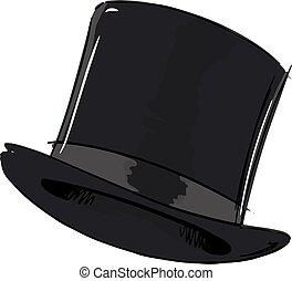 cima, moda, sombrero, estilo, ilustración