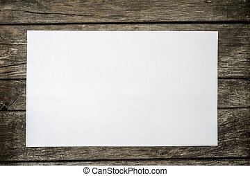 cima, papel, blanco, blanco, pedazo, vista