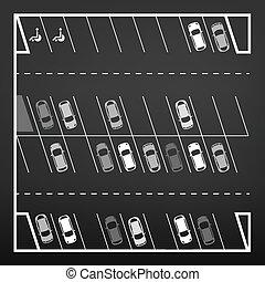 cima, parcheggio, vista
