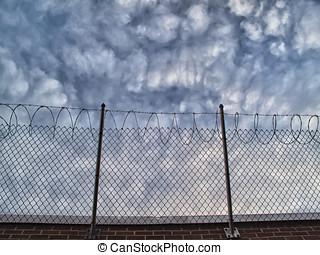 cima, paredes, prisión