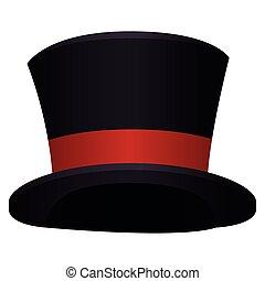 cima, plano de fondo, sombrero blanco