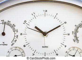 cima, relógio