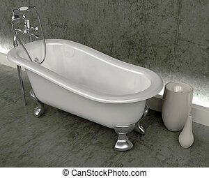cima rollo, baño, clásico