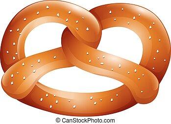 cima, sale, pretzel
