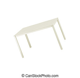 cima tavola, bianco, isolato, fondo