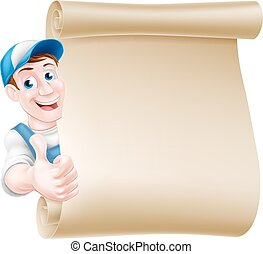 cima, tradesman, scroll, polegares