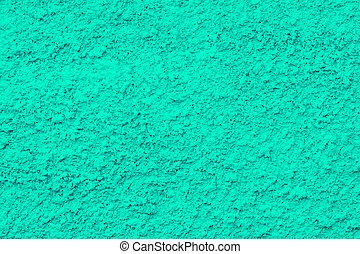 ciment, fond, mur, bleu
