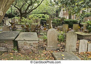 cimetière, église