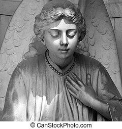 cimetière, angélique, sculpture