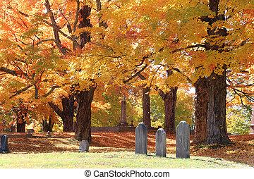 cimetière, automne