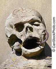 cimetière, crâne