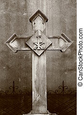 cimetière, croix