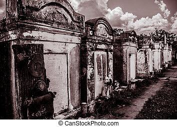 cimetière, lafayette, nouvelle-orléans