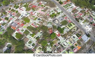 cimetière, mountain., aérien, taiwan., vue
