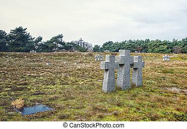 Cimetière, pierre, croix, vieux