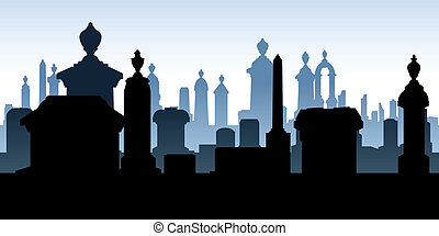 cimetière, pierres tombales