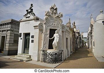 cimetière recoleta, dans, argentine