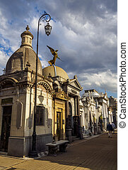 cimetière recoleta, dans, buenos aires