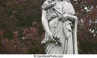 cimetière, statue., décapité