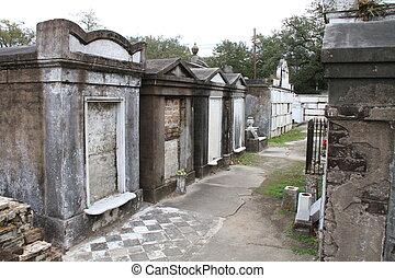 cimetière, terrestre, orléans, au-dessus, nouveau