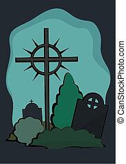 cimitero, croce