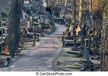cimitero, tombstones