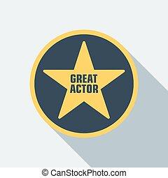 cinéma, étoile, icône