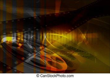 cinéma, bobine, chiquenaude