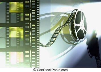 cinéma, bobine, pellicule