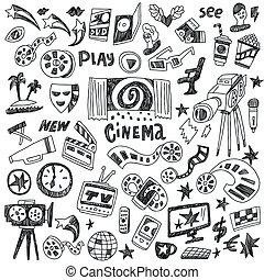 cinéma, doodles