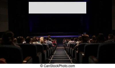 cinéma, house., écran, motion., variante, viewers