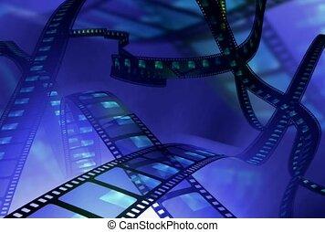cinéma, image, négatif