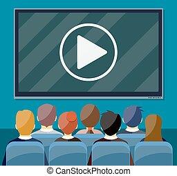 cinéma, présentation, vidéo, business