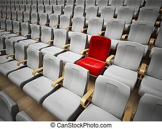 cinéma, réservé, ou, siège théâtre