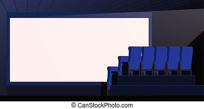 énorme Cinéma écran Confortable Sièges Salle Cinéma Puissant