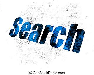 cinche desarrollo, concept:, búsqueda, en, fondo digital