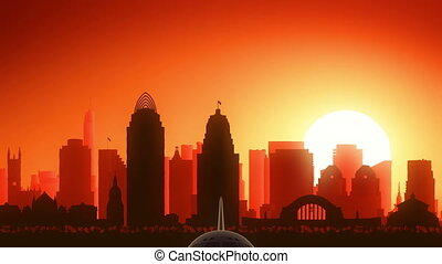 Cincinnati Ohio USA America Skyline - Very useful for travel...